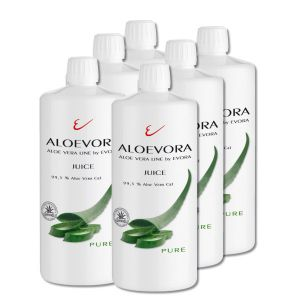 ALOEVORA Juice -pure- SIX PACK 99,5% Aloe Vera