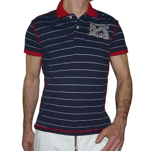 Singly Herren 1/2 Arm Polo-Shirt Streifen
