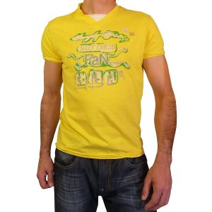 Singly Herren 1/2 Arm T-Shirt, V-Neck