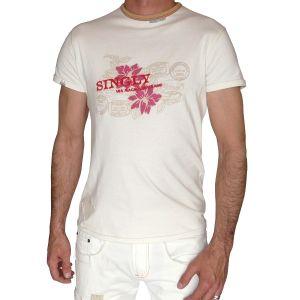 Singly Herren 1/2 Arm T-Shirt, Rundhals