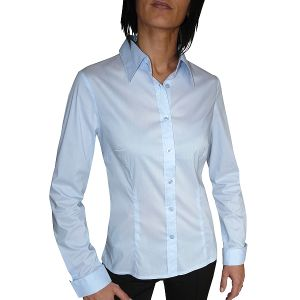 MIJAS Bluse Classic Business - minimal Streifen Art. 55025