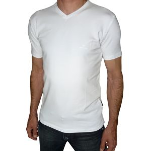 MIJAS Herren Body Fit T-Shirt Stretch V-Ausschnitt Art. 50004