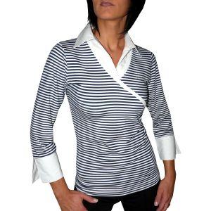 MIJAS Damen-Blusenshirt mit Chrystal Print 3/4 Arm Art. 55020