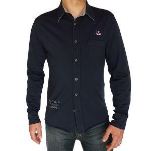 Sylt lounge Herren Jersey Hemd, Langarm 07105