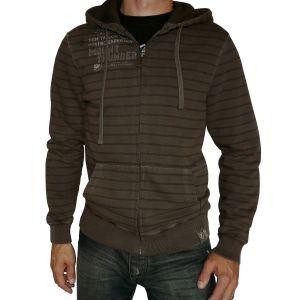 Tom Tailor Herren Kapuzen-Sweat-Jacke Streifen