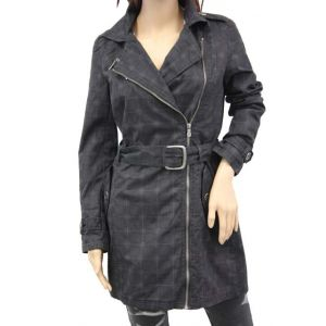 Fresh Made Damen Trenchcoat kariert D7110N43007A