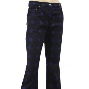 Blue Willi`s Damenhose Karo mit Druck 398-894