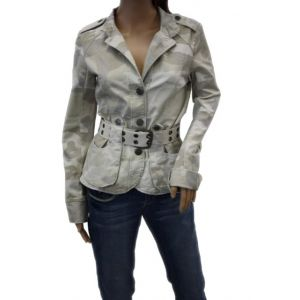 Fresh Made Damen Jacke mit G?rtel D7217N43008A