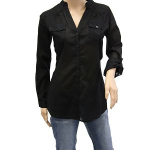 Fresh Made Damen Bluse mit Krempelarm D7146J10053A