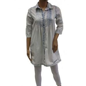 Fresh Made Damen Jeans Tunika ICE wash D8138F30004S16