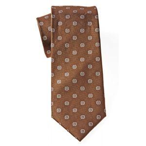 MIJAS Krawatte Design 1 brown/silver/anthracit