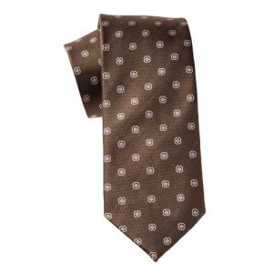 MIJAS Krawatten Design 1 brown/rose/silber