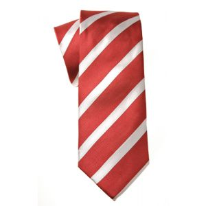 MIJAS Krawatte Design 2 red/white/silver