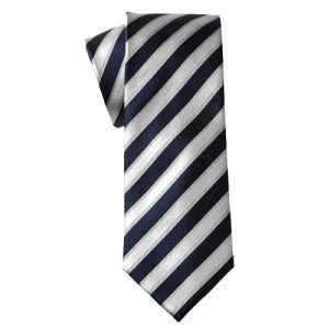 MIJAS Krawatte Design 4 navy/silver