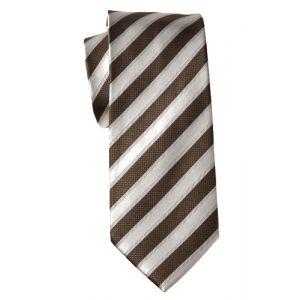 MIJAS Krawatte Design 4 brown/cream