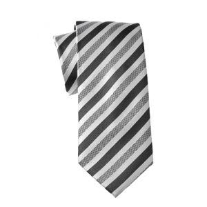 MIJAS Krawatte Design 5 anthracit/white