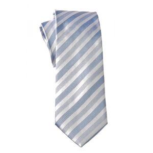 MIJAS Krawatte Design 5 sky/white