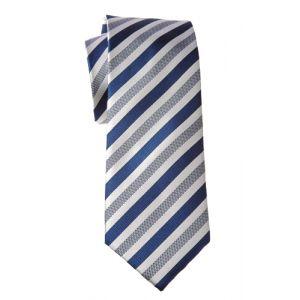 MIJAS Krawatte Design 5 royal/white