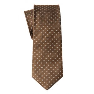 MIJAS Krawatte Design 8 brown/silver