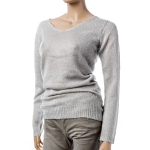Fresh Made Damen Strickpullover V- Ausschnitt D9002W 90043A
