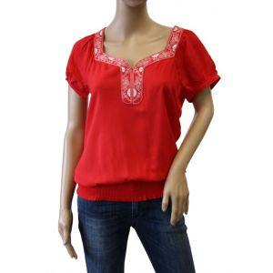 Fresh Made Damen Bluse kurzarm D7189J10247A