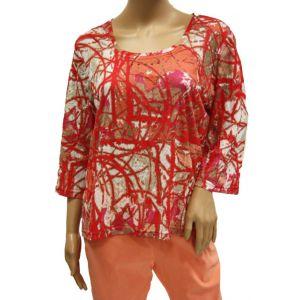 Laura Kent Damen Druck Shirt 3/4 Arm 05956/6 - Bis Größe 50 -