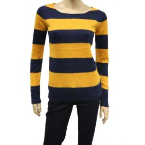 Fresh Made Damen Blockstreifen Pullover D9002W90152A