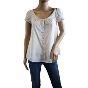"Fresh Made Damen Bluse mit Puff""rmel D7016N10221A"