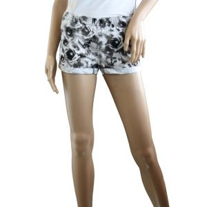 Sublevel Damen Treggins Hotpants allover Druck Design 03 Blumendruck D6191W60378