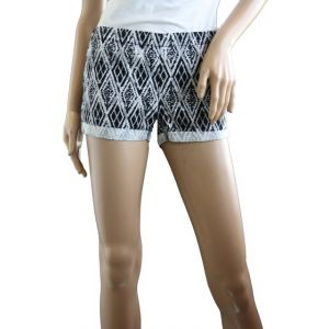 Sublevel Damen Treggins Hotpants Allover Druck Design 02 Rautendruck D6191W60378K