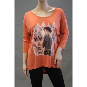 Fresh Made Damen Longshirt mit Druck D1209V0026B