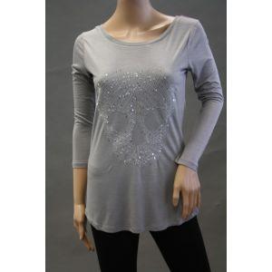 Sublevel Damen Longshirt mit Stickmotiv D128200786B
