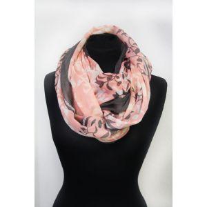 Damen Loop Schal mit Blumendruck 86066