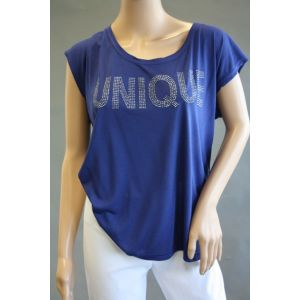 Fresh Made Damen T-Shirt mit Strassdruck D1208V00538A