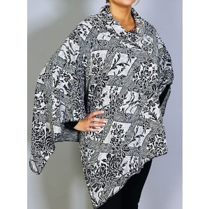 Sublevel Damen-Poncho D1155V01473A