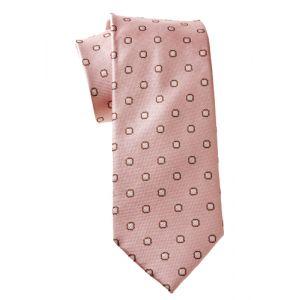 MIJAS Krawatte Design 1 rose/brown/silver