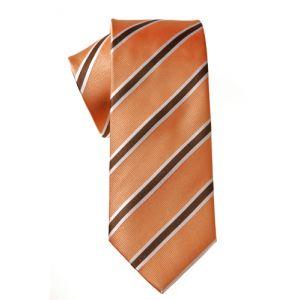 MIJAS Krawatte  Design 2 apricot/white/brown