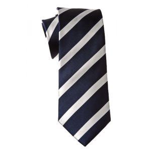MIJAS Krawatte Design 2 navy/white/silver