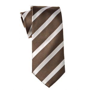 MIJAS Krawatte Design 2 brown/white/silver