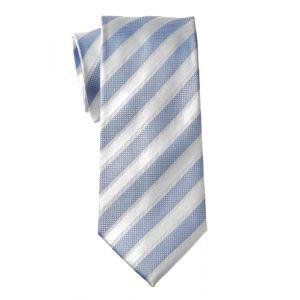 MIJAS Krawatte Design 4 sky/silver
