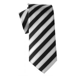 MIJAS Krawatte Design 4 black/silver