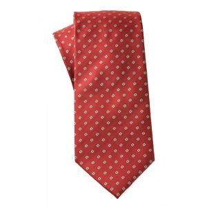 MIJAS Krawatte Design 8 red/white