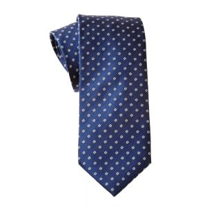 MIJAS Krawatte Design 8 royal/white