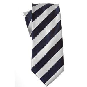 MIJAS Krawatte Design 9 navy/white