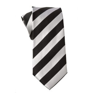 MIJAS Krawatte Design 9 black/white