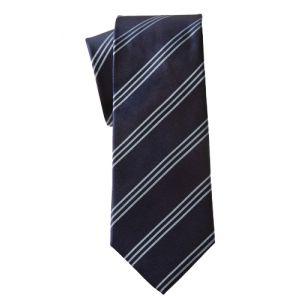 MIJAS Krawatte Design 11 navy/sky