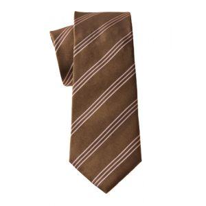 MIJAS Krawatte Design 11 brown/rose