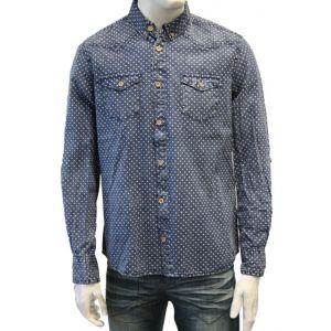 Eight2Nine Herren Jeans Hemd mit Pünktchen - H8222N10369M08EN -
